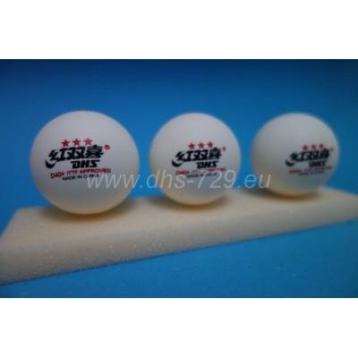 Kunststoffkugeln für Tischtennis DHS D40+ 3 (Sterne) *** / 10 ST.