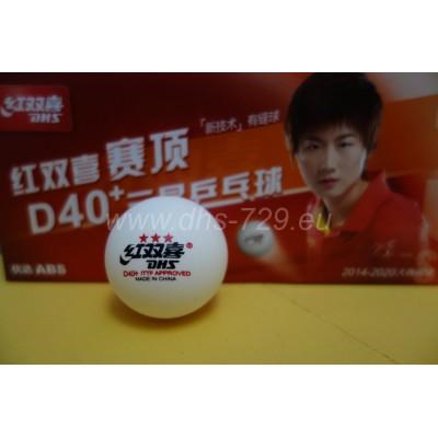 Plastové míčky na stolní tenis DHS D40+ 3***/10 ks